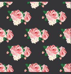 Seamless pattern with roses for design vector