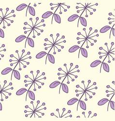 seamless purple flower pattern vector image