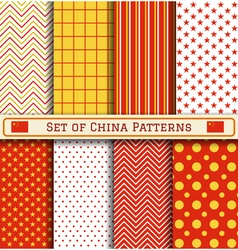 Set of China Independence day patterns vector image