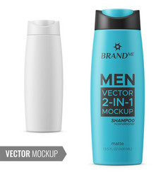 shampoo bottle template vector image