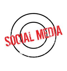 Social media rubber stamp vector