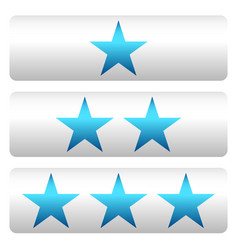 star rating w 3 stars - star rating panels vector image