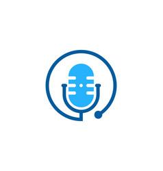 Stethoscope podcast logo icon design vector