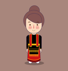 Sulawesi province cute indonesian traditional vector