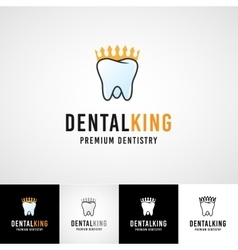 Teethcare logo template dental icon set dentist vector image