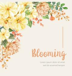 thai flowers frame design vector image