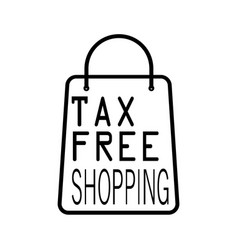 Thin line tax free icon vector