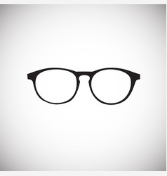 trendy eye wear glasses on white background vector image