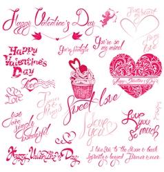 Valentine day calligr 5 380 vector