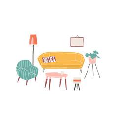 Vintage furniture hand drawn vector