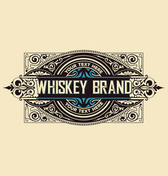 Vintage label for packing western style with vector