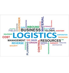 word cloud logistics vector image
