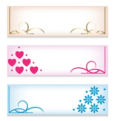 Banner set with abstract patterns vector image vector image