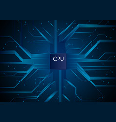 cpu hi-tech technology information communication vector image