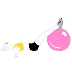 girl is doing sports exercises w vector image