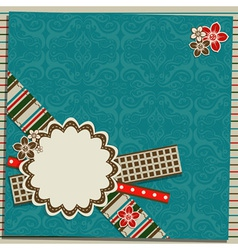 scrapbook greeting card vector image vector image