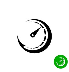 Timer black icon Scale indicator fast growth Speed vector image vector image
