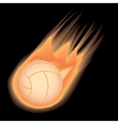 volleyball-fire vector image vector image