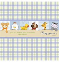 baby shower announcement card vector image vector image