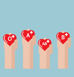 Blood donate donation concept with heart shape in vector