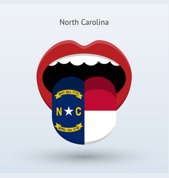 Electoral vote of north carolina abstract mouth vector