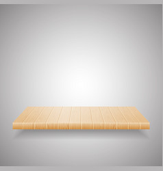 empty wooden shelf on gradient background vector image