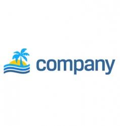 tropical beach travel logo vector image