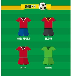 Brazil Soccer Championship 2014 Group H team vector image vector image