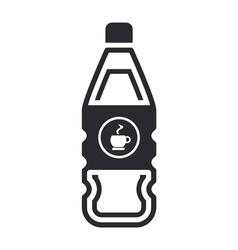 coffee bottle vector image vector image