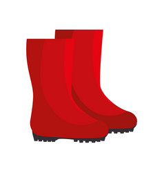 garden boots animated vector image vector image