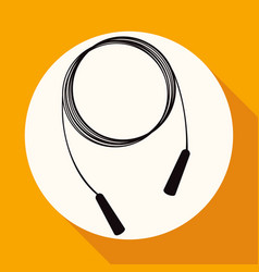 icon gym rope on white circle with a long shadow vector image vector image