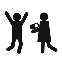 Man woman and child icon vector image