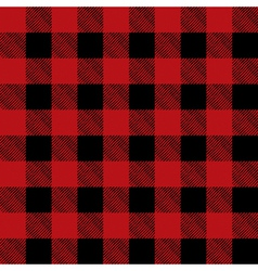 Read and Black Flannel Tile Pattern vector image vector image