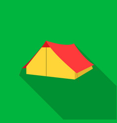 tourist tent icon of for web vector image vector image