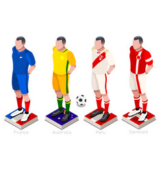 World cup soccer uniform vector