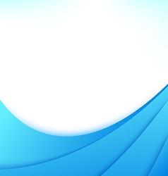 Blue business flyer wave line design template vector image vector image