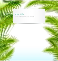 Exotic trip background vector image vector image