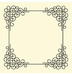 Old Vintage Frame vector image vector image