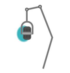 studio microphone with pop shield cartoon vector image