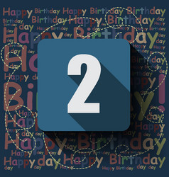 2 happy birthday background or card vector image