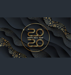 2020 new year logo greeting design vector image