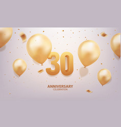 30th anniversary celebration vector image