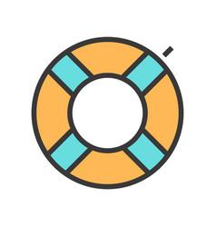 a swimming circle vector image