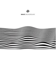 abstract black lines wave wavy stripes pattern vector image