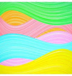 Abstract colorful wave background vector image