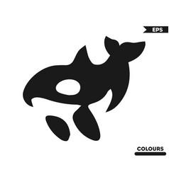 Abstract dolphin vector
