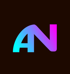 An alphabet letter logo design image vector