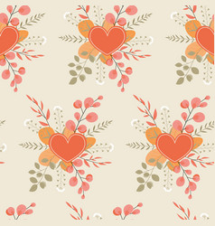 autumn seamless pattern with a composition red vector image