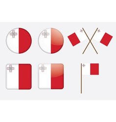 badges with flag of Malta vector image