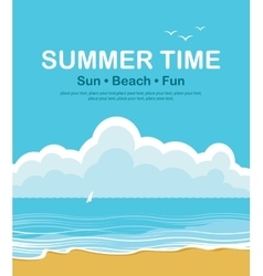 beach and summer holidays vector image